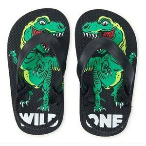 Childrens Place Dinosaur Flip Flops